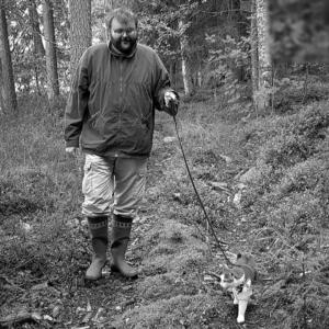 Petri Leinonen ja kissa